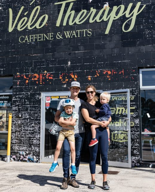 """Bikes, coffee and family are all a big part of who we are and what we do. ⁠ ⁠ Meet Ryan's family, who also spend a lot of time here at @velotherapyaustralia and are another large driver of our success.⁠ ⁠ One of our main goals is to create a welcoming environment, where everyone feels like family. """