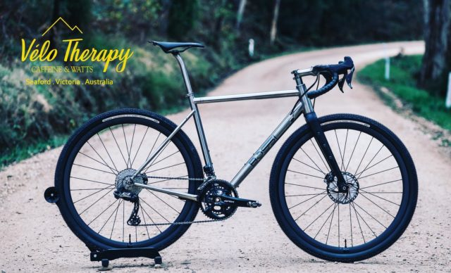 Now this is serious Gravel fun.  We have only two of these Titanium frame set beauties landing this Month.   Built on the impressive road Fabrica frame set , it is light , lively , absorbs those unintended bumps , and being Titanium , it's easy to clean up cosmetic scratches!  Check in with the team at HQ for what custom builds sets are available 🚴🏻